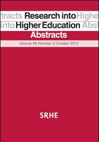 Research into Higher Education Abstracts - SRHE Publication